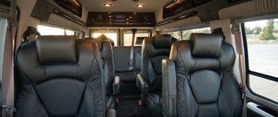 Executive Limo Van Interior